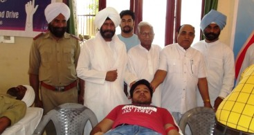 BLOOD DONATION CAMP HELD IN DOMANA IN J&K