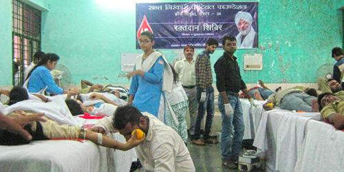 211 NIRANKARI VOLUNTEERS DONATE THEIR BLOOD IN NOIDA