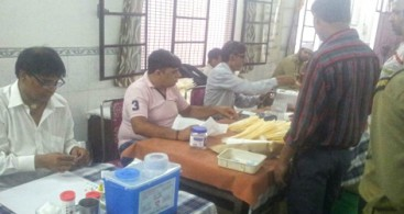 BLOOD DONATION CAMP HELD IN KAROL BAGH IN DELHI