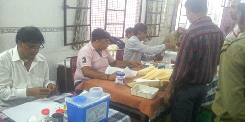 BLOOD DONATION CAMP HELD IN KAROL BAGH IN DELHI