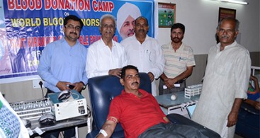 Blood Donation Camp Organized In Pounichak in J & K
