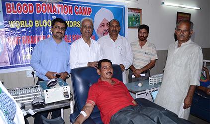 Blood Donation Camp Organized In Pounichak in J & K