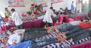 382 NIRANKARI VOLUNTEERS DONATE BLOOD AT RAIPUR RANI NEAR CHANDIGARH