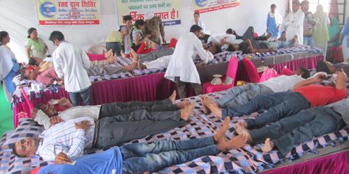 382 NIRANKARI VOLUNTEERS DONATE BLOOD AT RAIPUR RANI NEAR CHANDIGARH