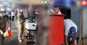 Cleanliness Drive at Hazrat Nizamuddin Railway Station on 9th July 2016