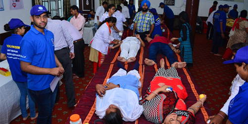BLOOD DONATION CAMP HELD IN PHAGWARA IN PUNJAB